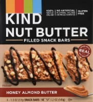 KIND Nut Butter Honey Almond Butter Filled Snack Bars