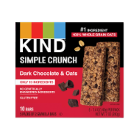KIND Dark Chocolate & Oats Simple Crunch Granola Bars 10 Count