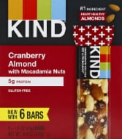 KIND Cranberry Almond with Macadamia Nut Bars