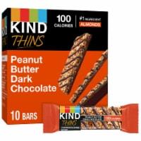 KIND® Thins Peanut Butter Dark Chocolate Bars - 10 ct / 0.74 oz