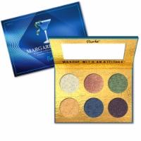 RUDE Cocktail Party 6 Color Eyeshadow Palette - Margarita Azul - 1 unit