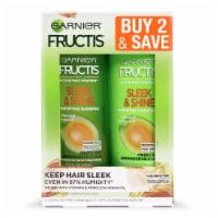 Garnier Fructis Sleek & Shine Shampoo and Conditioner Two Pack - 24.5 fl oz