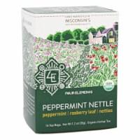 Four Elements Herbals Organic Herbal Tea Peppermint Nettle, 16 Tea Bags - 16