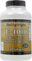 Healthy Origins Vitamin E 1000IU Supplements