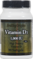 Healthy Origins Vitamin D3 1000IU Supplement
