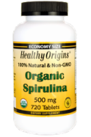 Healthy Origins Organic Spirulina Tablets 500 mg