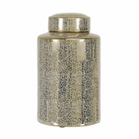 12  Jar, Crackle Gold - 1