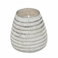 64Oz Candle On Bronze Striped Glass By Liv & Skye - 1