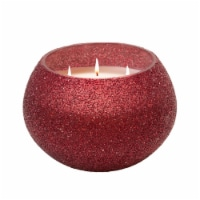70Oz Candle On Red Beaded Holder By Liv & Skye - 1