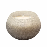 70Oz Candle On Silver Beaded Holder By Liv & Skye - 1