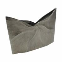12  Decorative Wave Vase, Silver - 1