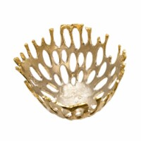 """14"""" Cut-Out Bowl, Champagne"""