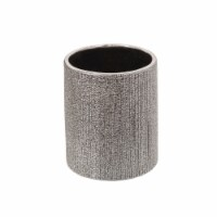5 H Beaded Pencil Holder, Silver - 1