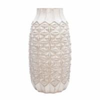 """18"""" Tribal Vase, Ivory"""