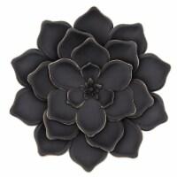 Metal 20   Multi-Layer Flower Wall Deco, Black - 1