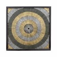 35X35 Paper Wall Art, Blk/Gold - 1