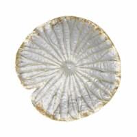 Polyresin 14  Lotus Wall Decor, Silver/Gold - 1