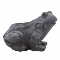 Resin, 8  Frog Planter, Black - 1