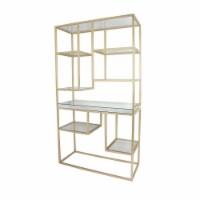 Metal, 70 H Multi-Level Shelf, Gold - 1