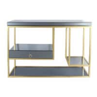 Metal, 47  Console Table With Drawer, Gold - 1