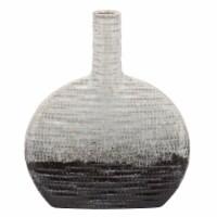14 H Textured Oval 2-Tone Vase, Beige - 1