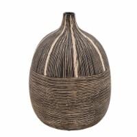 9 H Tribal Vase, Brown - 1