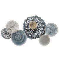 Metal 36  Disc Pads Wall Deco, Teal Wb - 1