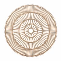 """Wicker, 36"""", Round Wall Accent, Natural"""