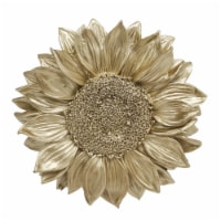 """Resin 7"""" Sunflower Wall Accent, Gold"""