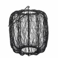 Metal, 10 H Wire Lantern, Black - 1