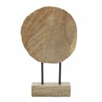 Wood, 12'H Pinwheel Deco, Natural - 1