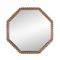 """Wood, 32"""" Octagonal Mirror, Natural Wb"""