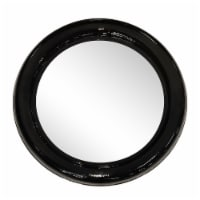 Metal 36  Round Mirror, Black - 1