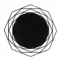 Metal, 28  Octagonal Mirror, Black - 1