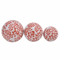 Cer, S/3 Fern Orbs, 4/5/6  White/Red - 1