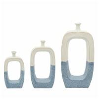 Cer, 14 H Vase W/ Cutout, Skyblue - 1