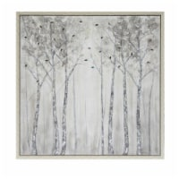 51X51, Trees Oil Painting, Silver