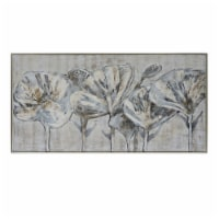 61X31, Flowers Oil Painting, Gray