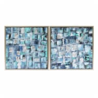 26X26, S/2, Squares Oil Painting, Blue