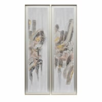 70X20, S/2, Abstract Oil Painting, Multi - 1