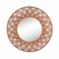 Bamboo, 35  Mirrored Wall Deco, Brown - 1