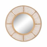 Bamboo, 34  Mirrored Wall Deco, Brown - 1
