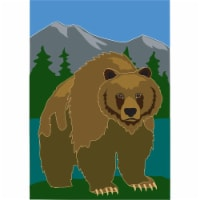 Jozie B 791 Grizzly Bear Flag, Large - 1
