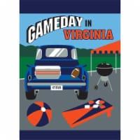 Magnolia Garden Flags 1453 13 x 18 in. Game Day in Virgina Garden Flag - Navy & Orange - 1