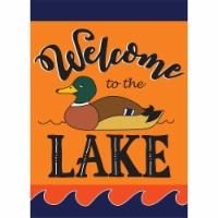 Magnolia Garden Flags 1635 13 x 18 in. Welcome Lake Fall Polyester Garden Flag - 1