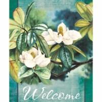 Magnolia Garden Flags M080005 13 x 18 in. Magnolia Welcome Polyester Garden Flag - 1