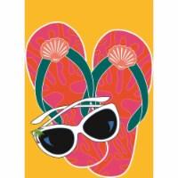 Magnolia Garden Flags M010005 13 x 18 in. Sunglasses & Flip Flops Burlap Garden Flag