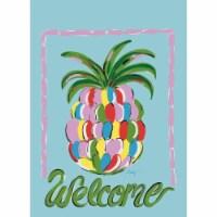 Magnolia Garden Flags M010015 13 x 18 in. Pinapple Welcome Polyester Garden Flag
