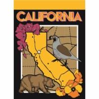 Magnolia Garden Flags M010056 13 x 18 in. California Symbols Polyester Garden Flag - 1