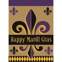 Magnolia Garden Flags M010061 13 x 18 in. Happy Mardi Gras Polyester Garden Flag - 1